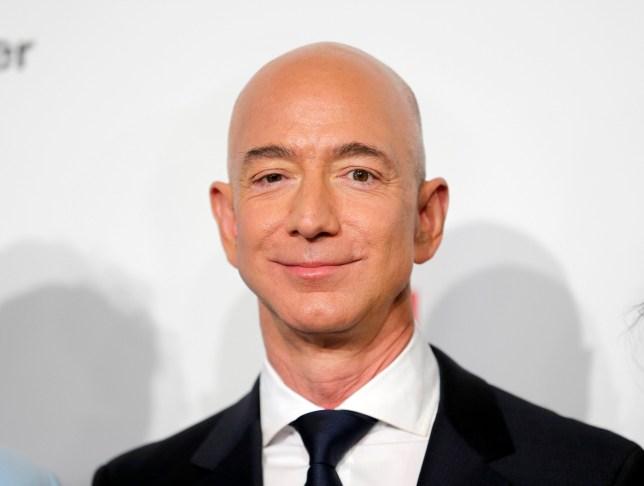 Jeff Bezos at a press event
