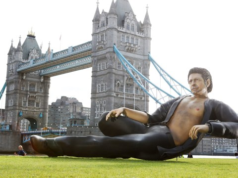 There's a 25ft statue of sexy Jeff Goldblum next to Tower Bridge, just FYI