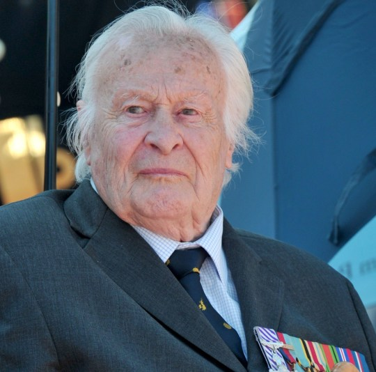 Battle of Britain veteran Geoffrey Harris Augustus Wellum, the youngest Spitfire pilot to fly in the Battle of Britain and who has died aged 96, viewing an RAF fly-past to mark the 75th anniversary of the Battle of Britain, at Buckingham Palace in London. PRESS ASSOCIATION Photo. Issue date: Friday July 20, 2018. See PA story DEATH Wellum. Photo credit should read: Anthony Devlin/PA Wire