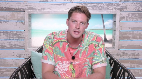 From ITV Studios Love Island: SR4: Ep47 on ITV2 Pictured: Alex's frustration with Alexandra. This photograph is (C) ITV Plc and can only be reproduced for editorial purposes directly in connection with the programme or event mentioned above, or ITV plc. Once made available by ITV plc Picture Desk, this photograph can be reproduced once only up until the transmission [TX] date and no reproduction fee will be charged. Any subsequent usage may incur a fee. This photograph must not be manipulated [excluding basic cropping] in a manner which alters the visual appearance of the person photographed deemed detrimental or inappropriate by ITV plc Picture Desk. This photograph must not be syndicated to any other company, publication or website, or permanently archived, without the express written permission of ITV Plc Picture Desk. Full Terms and conditions are available on the website www.itvpictures.co.uk For further information please contact: james.hilder@itv.com / 0207 157 3052