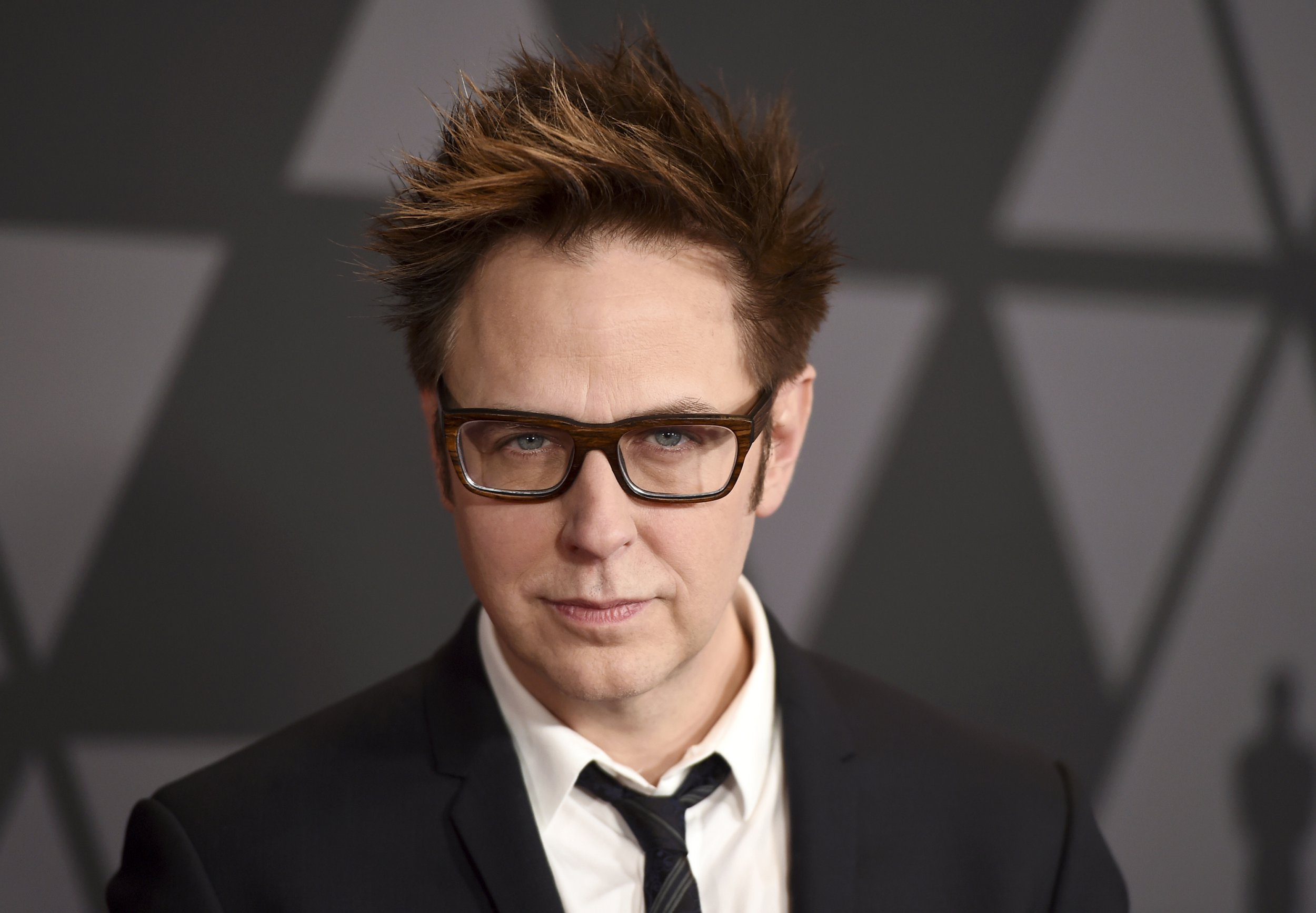 FILE - In this Nov. 11, 2017 file photo, filmmaker James Gunn arrives at the 9th annual Governors Awards in Los Angeles. Gunn has been fired as director of ???Guardians of the Galaxy 3??? because of old tweets that recently emerged where he joked about subjects like pedophilia and rape. Walt Disney Studios Chairman Alan Horn said in a statement Friday, July 20, 2018, that the tweets are indefensible, and the studio has severed ties with Gunn. (Photo by Jordan Strauss/Invision/AP, File)