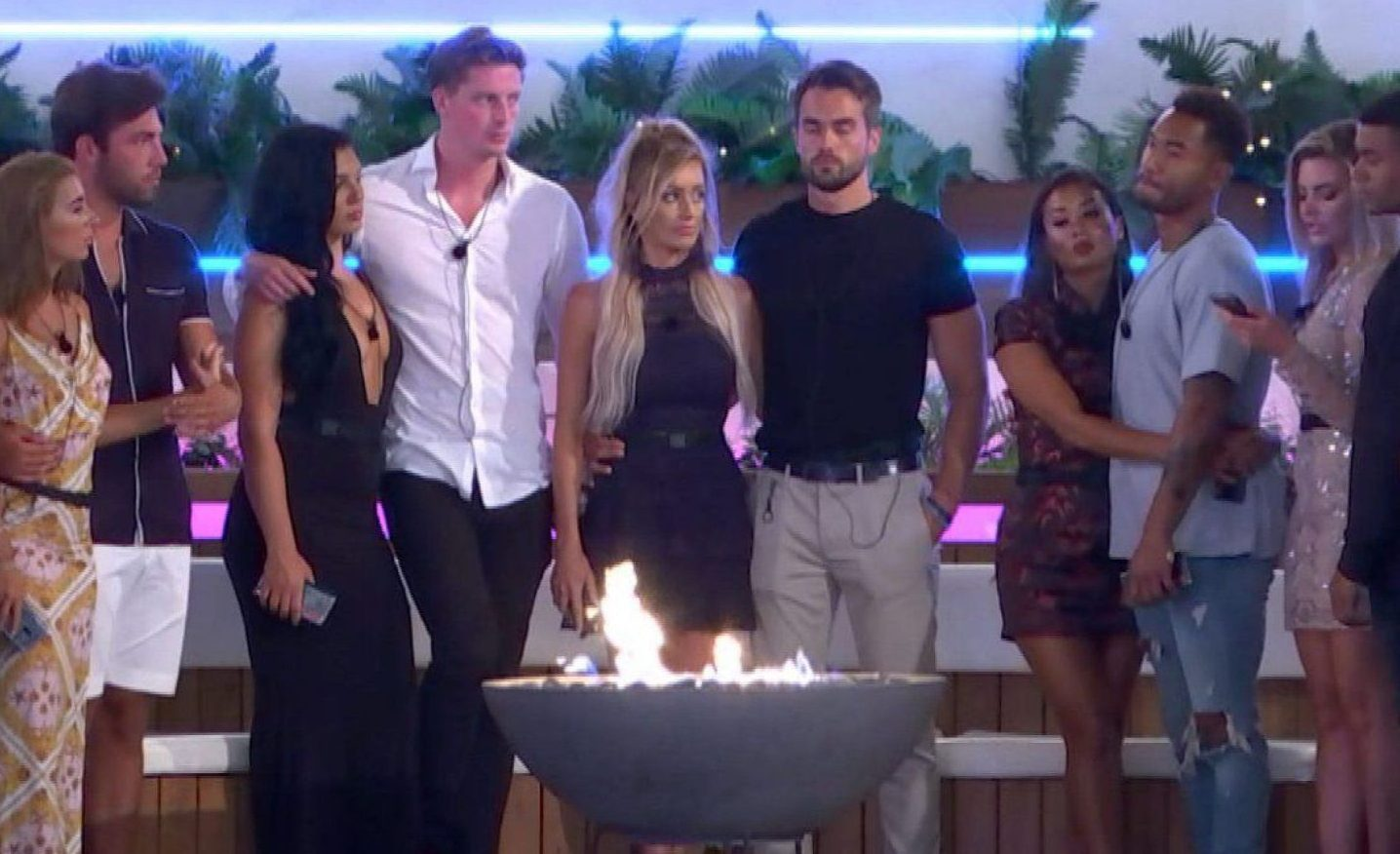 Editorial Use Only. No Merchandising. No Commercial Use. Mandatory Credit: Photo by ITV/REX/Shutterstock (9767607q) Islanders prepare for a dumping. 'Love Island' TV Show, Series 4, Episode 49, Majorca, Spain - 22 Jul 2018 Wes and Megan get caught in the act. Date night gets Alex and Alexandra back on track. Another shock dumping hits the island. Girls horse around in Ladies Day challenge.