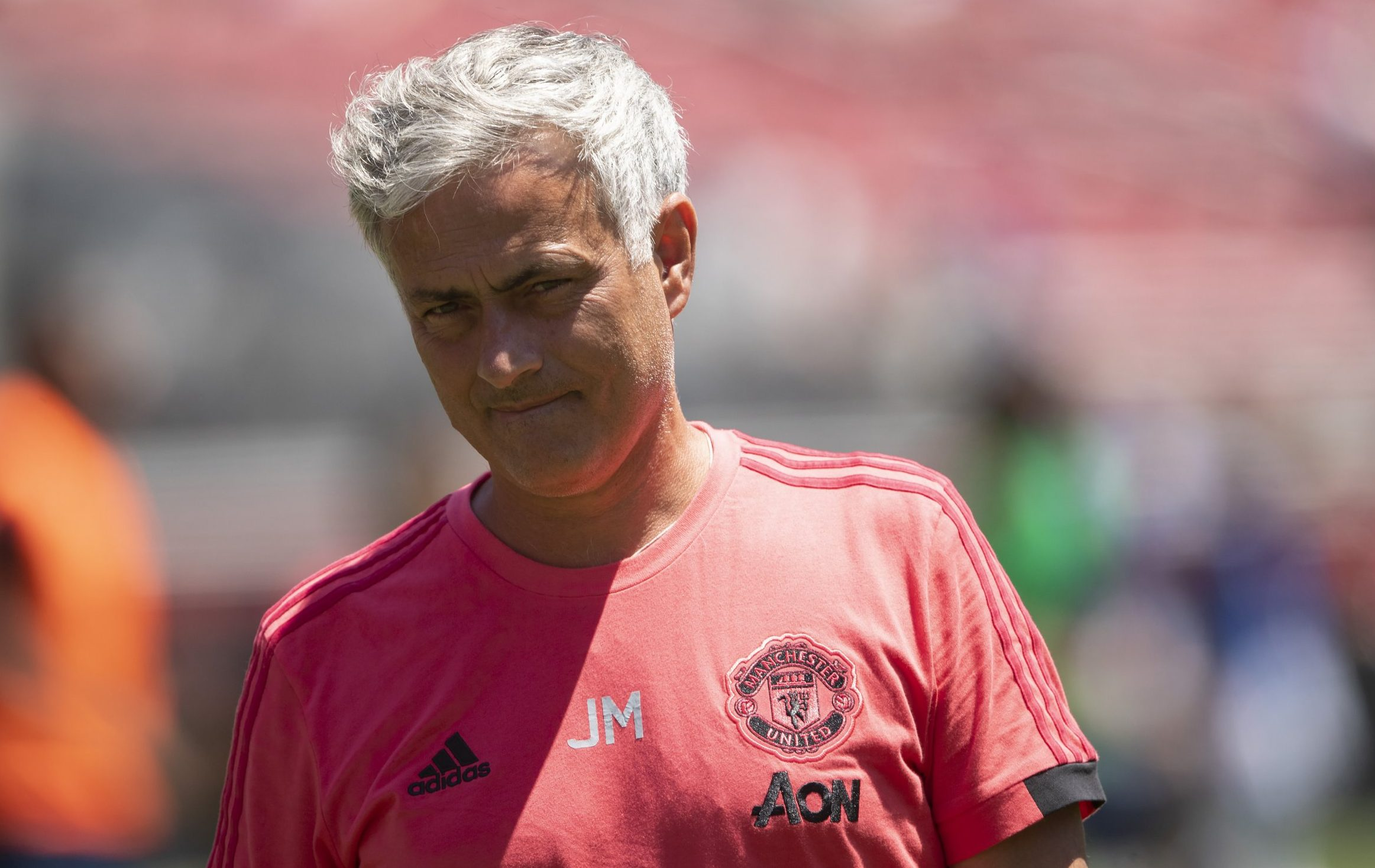 SANTA CLARA, CA - JULY 22: Jose Mourinho the head coach / manager of Manchester United during the Pre-Season match between Manchester United v San Jose Earthquakes at Levi's Stadium on July 22, 2018 in Santa Clara, California. (Photo by Matthew Ashton - AMA/Getty Images)