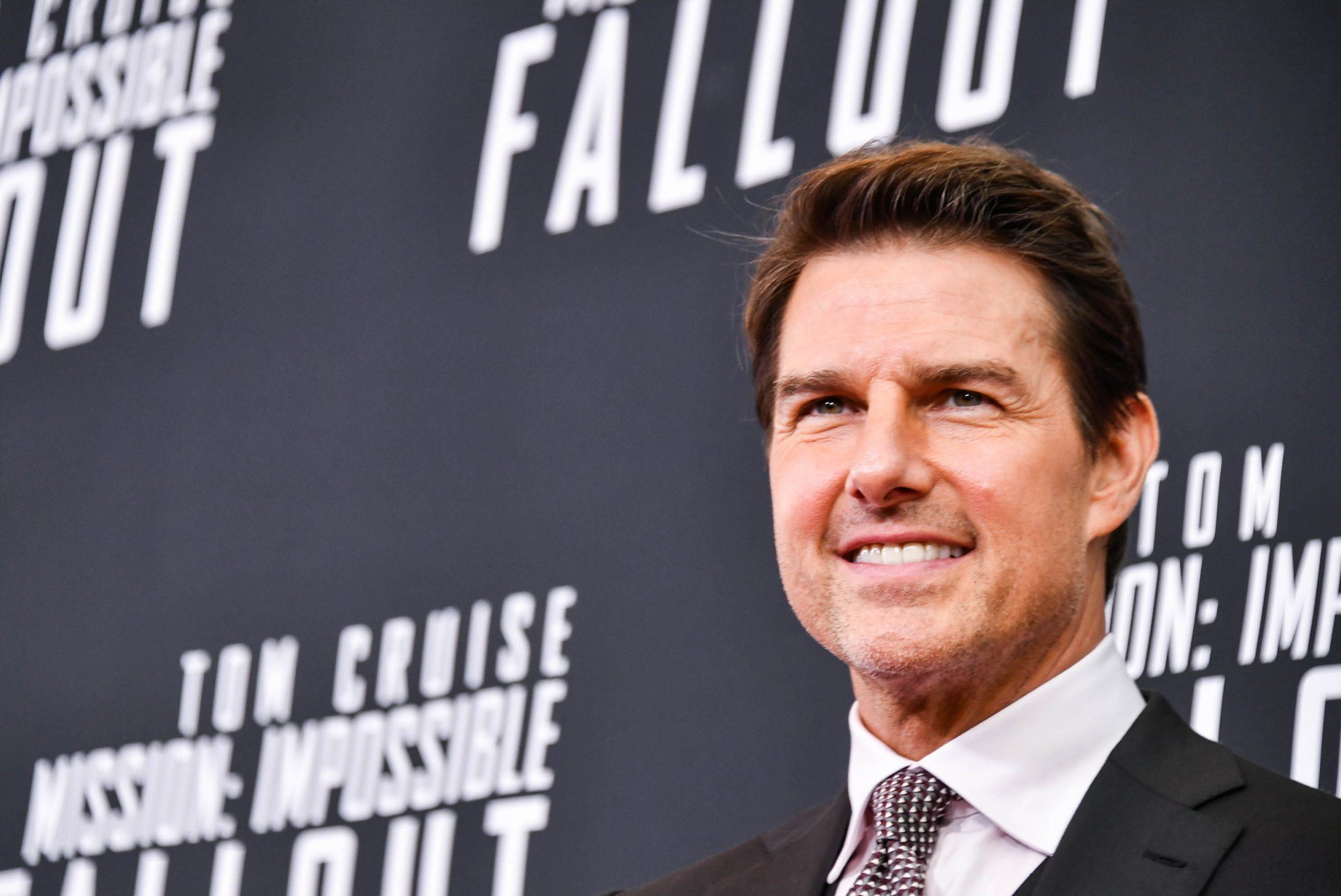 WASHINGTON, DC - JULY 22: Actor Tom Cruise attends the 'Mission: Impossible - Fallout' US Premiere at Lockheed Martin IMAX Theater at the Smithsonian National Air & Space Museum on July 22, 2018 in Washington, DC. (Photo by Michael Loccisano/Getty Images for Paramount Pictures)