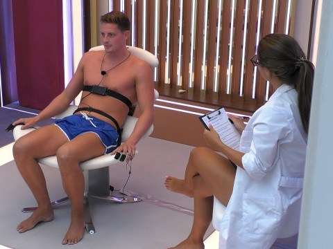 Love Island fans up in arms over sly dig at Alex from bosses as he trembles in lie detector test with Alexandra