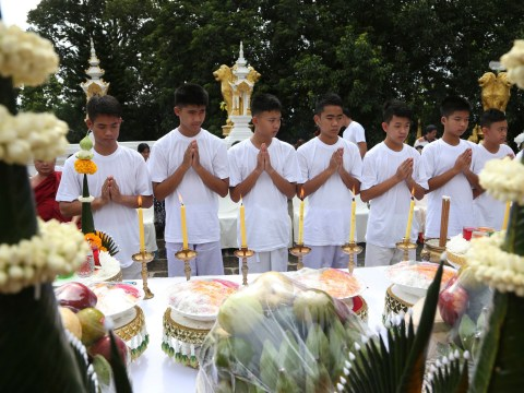 Thai cave boys to become Buddhist novices to respect their rescuers