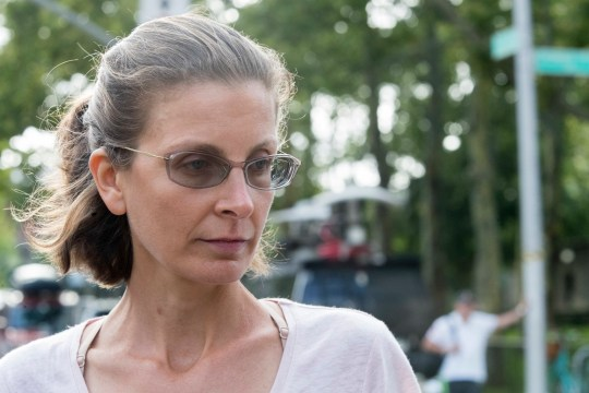 Clare Bronfman leaves Federal court, Tuesday, July 24, 2018, in the Brooklyn borough of New York. Bronfman and three other people associated with the NXIVM organization had been charged with racketeering conspiracy. (AP Photo/Mary Altaffer)