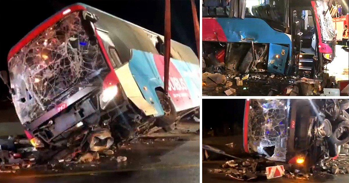 British tourists injured after coach crashes in Belgium
