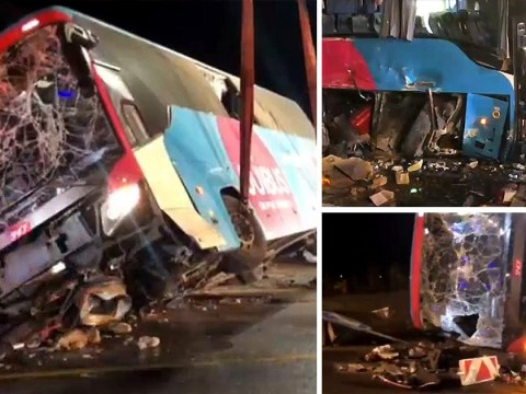 British tourists injured after coach crashes in Belgium
