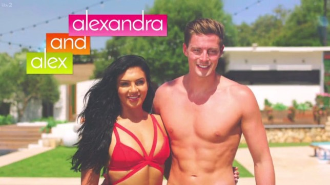 35880ddfe3a127 Credit  ITV Alexandra and Alex. Alex and Alexandra called time on their  relationship ...