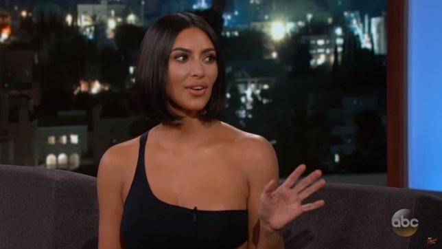 Kim Kardashian on Jimmy Kimmel live show