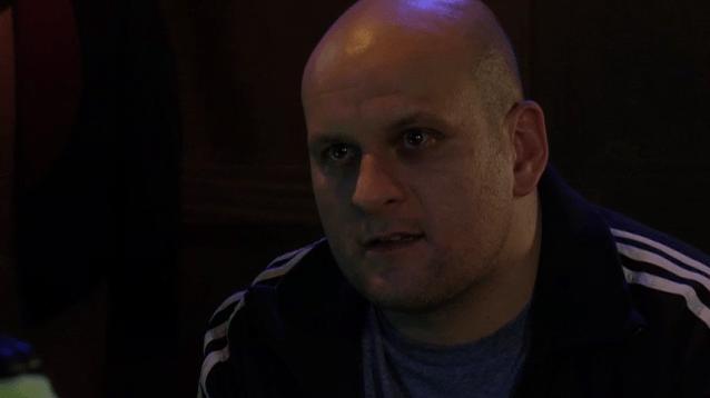 Stuart threatens Tina in EastEnders