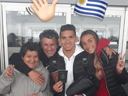 Lucas Torreira leaves Uruguay and flies to London to start Arsenal pre-season training