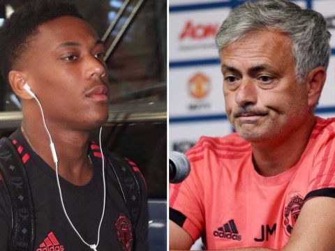 Jose Mourinho unhappy as Anthony Martial leaves Manchester United's pre-season tour