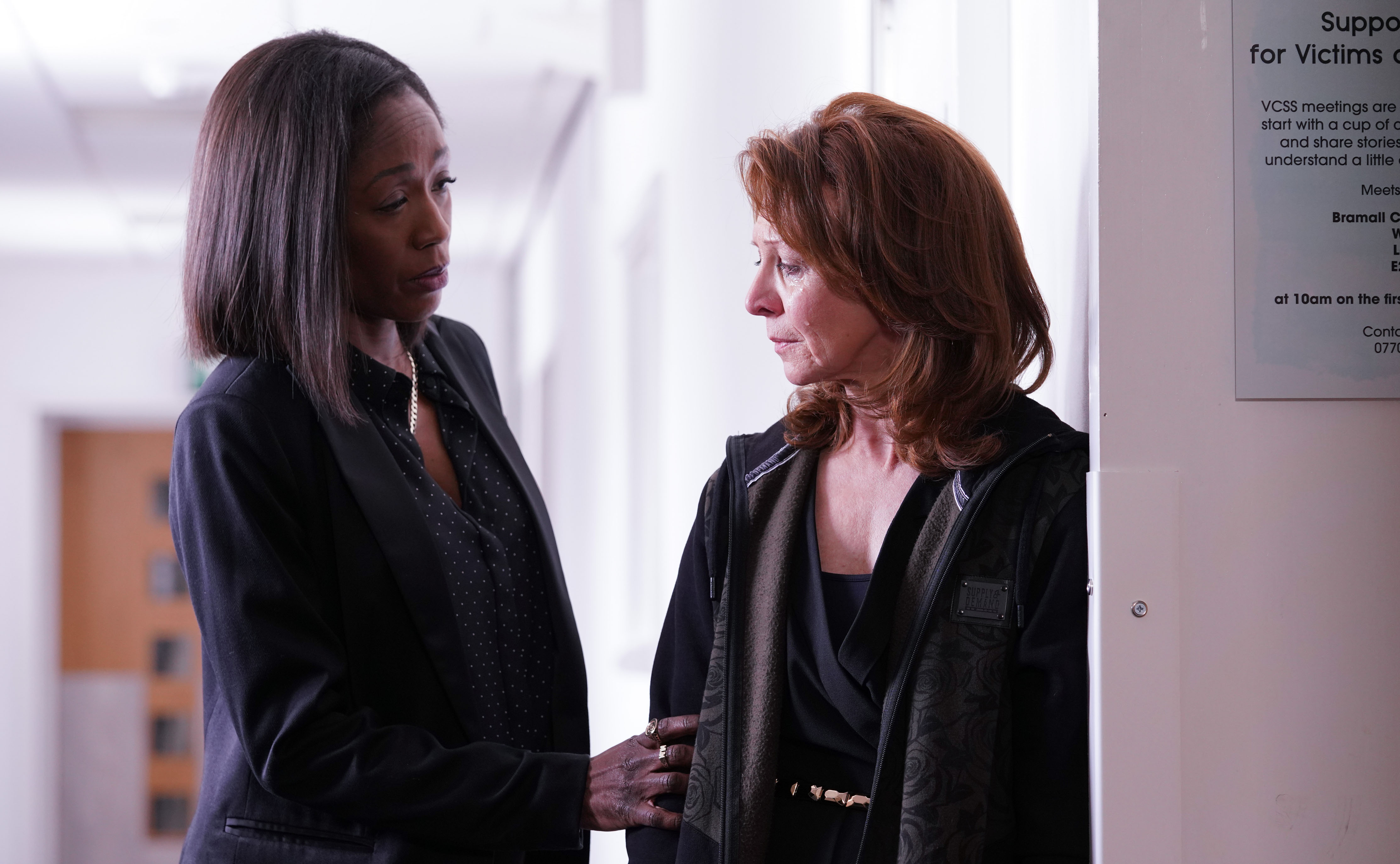 Denise tries to help Carmel in EastEnders