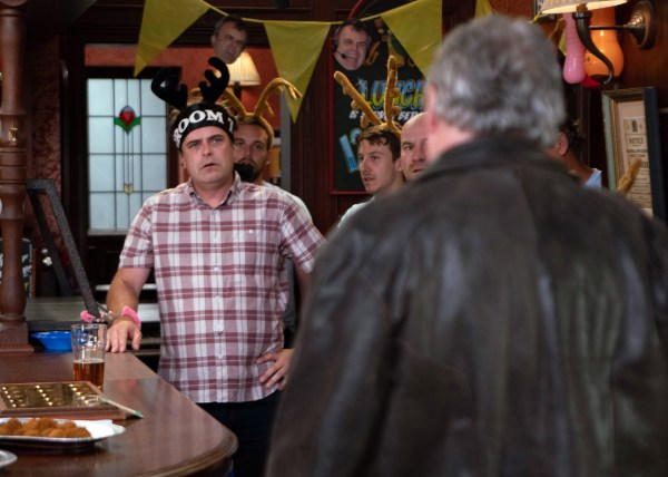 Steve is furious to see Jim in Coronation Street
