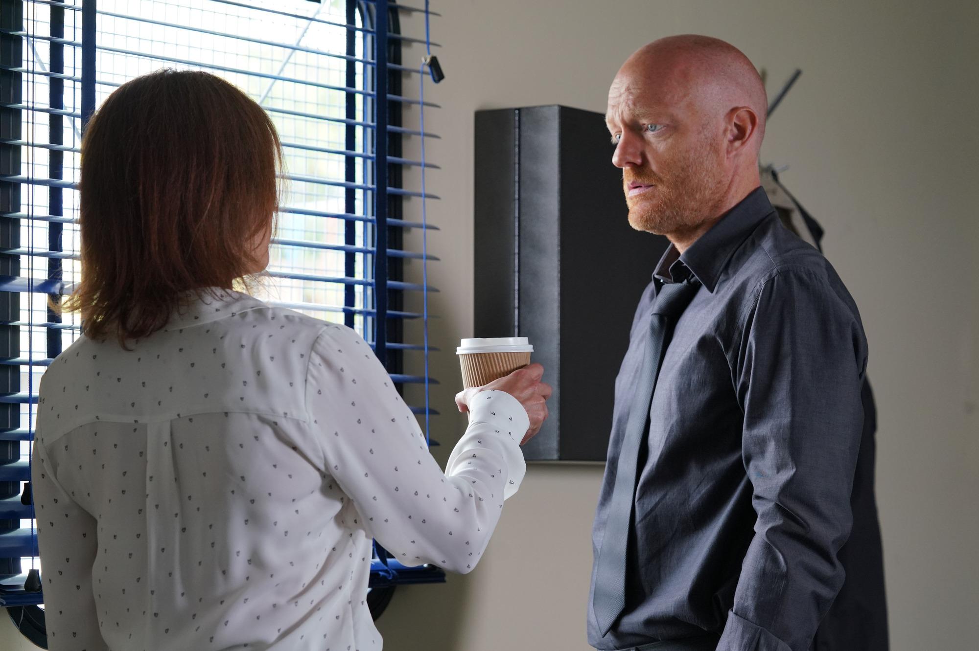 Rainie and Max hide their plan in EastEnders