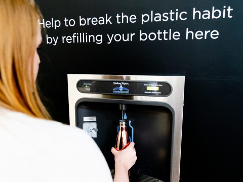 The UK's first trackable water refill station has arrived