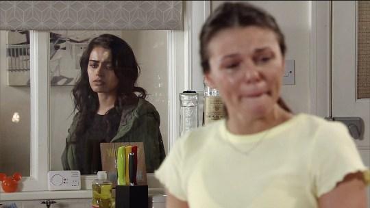 Kate and Rana split up in Coronation Street