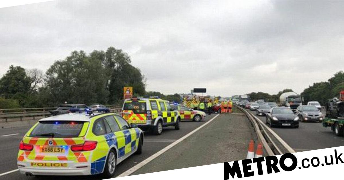 Three car pile-up on M6 sees motorway closed in both directions