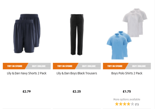 e8b0905c Available to buy now, you get two polo shirts, a sweatshirt and a skirt or  trousers included in the £5 (Picture: Aldi)