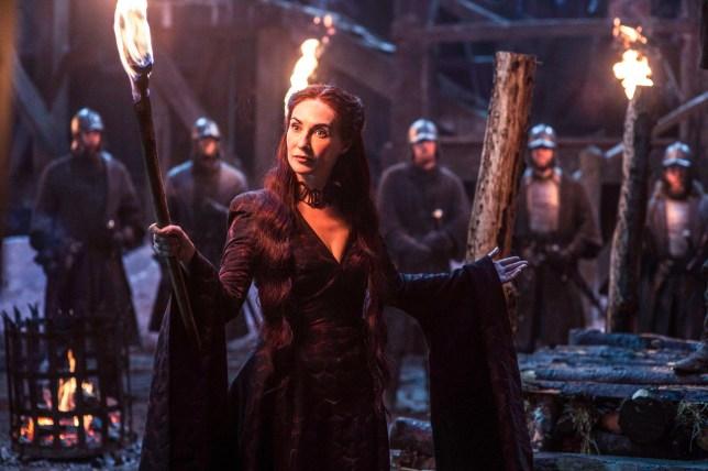 Television Programme: Games of Thrones Starring: Carice van Houten as Melisandre