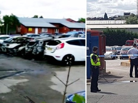 'Several cars on fire' following reports of masked men with guns outside Birmingham prison