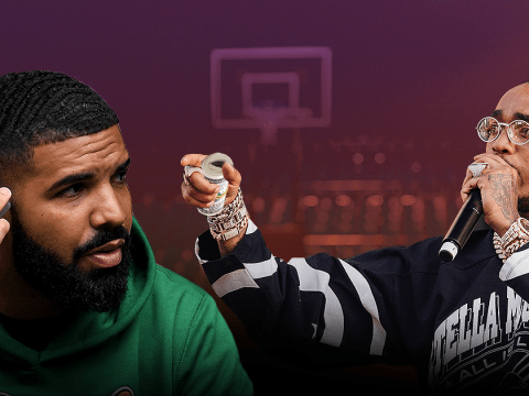 Drake loses $10,000 bet to Migos' Quavo as he proves he has inferior basketball skills