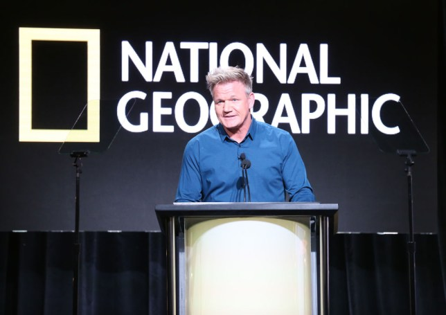 BEVERLY HILLS, CA - JULY 25: Gordon Ramsay speaks onstage during the National Geographic portion of the Summer 2018 TCA Press Tour at The Beverly Hilton Hotelon July 25, 2018 in Beverly Hills, California (Photo by Frederick M. Brown/Getty Images)