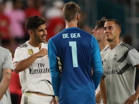 Marco Asensio aims cheeky taunt at David de Gea with Loris Karius comparison