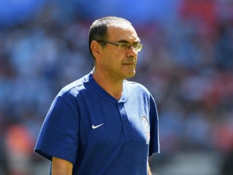 Maurizio Sarri reacts to Chelsea's Community Shield defeat to Manchester City