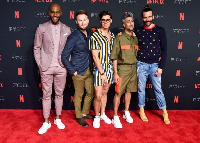 Karamo Brown, Bobby Berk, Antoni Porowski, Tan France, and Jonathan Van Ness of queer eye