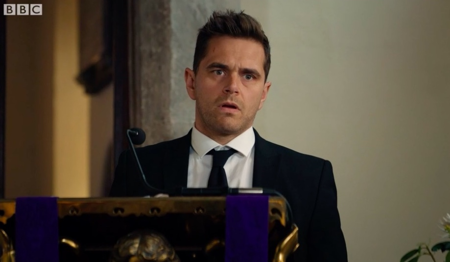 Casualty review with spoilers: Sam's funeral doesn't go smoothly