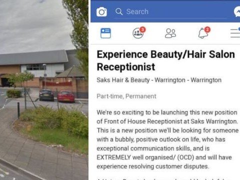 Beauty salon launches job ad for a receptionist with 'OCD'