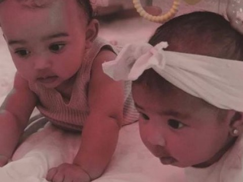 Kim Kardashian is making our hearts burst with cutest pic of 'BFF' babies Chicago and True
