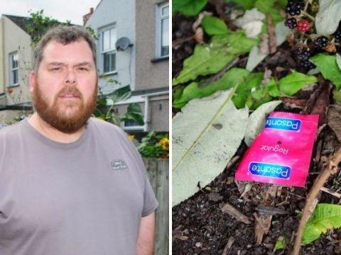 Dad won't let son play outside because couples 'keep having sex next to garden wall'
