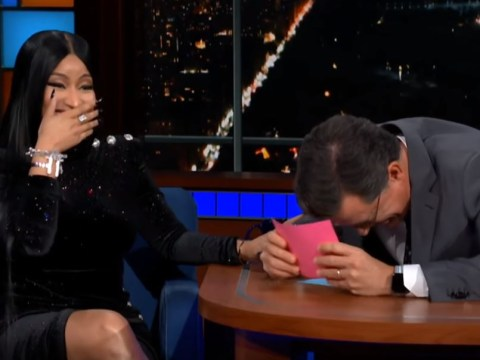 Nicki Minaj leaves Stephen Colbert speechless as she adds him to Barbie Dreams in X-rated rap