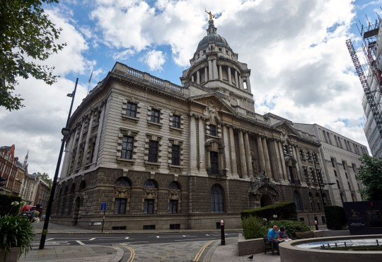 The front of the Central Criminal Court, commonly referred to as The Old Bailey is pictured in central London on August 21, 2016. Over the centuries the building has been periodically remodelled and rebuilt. The present building, though extensively rebuilt after being damaged by bombing in WWII, is that which was designed in the neo-Baroque style by Edward William Mountford and opened by King Edward VII in 1907. / AFP / NIKLAS HALLE'N (Photo credit should read NIKLAS HALLE'N/AFP/Getty Images)