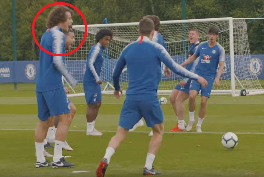 Chelsea squad lose it as Ross Barkley embarrasses Marcos Alonso with nutmeg