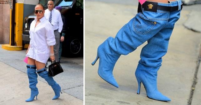 Jennifer Lopez Doesn T Wear The Pants As She Wears Interesting Jeans Boots Metro News