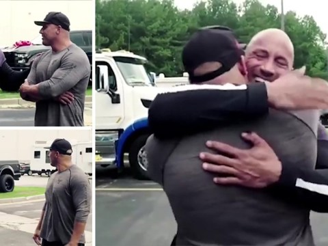 Dwayne Johnson continues to be a great guy by gifting his stunt double a brand new car