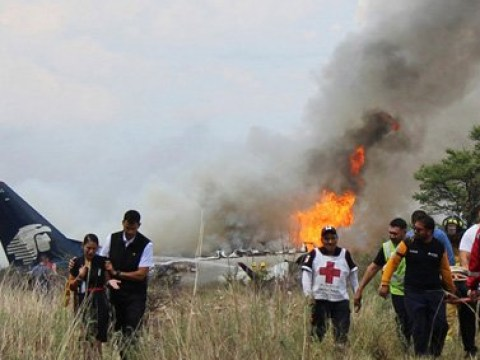 Terrified screams of children from inside plane as it crashed during take-off