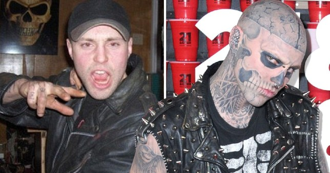 Rick Genest before and after his defining 'Zombie Boy