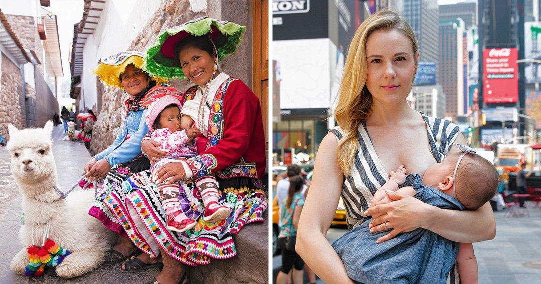 Beautiful photo series shows women breastfeeding around the world