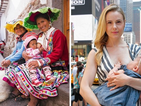 Beautiful photo series shows women breastfeeding around the world