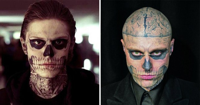 Rick Genest inspired one of American Horror Story's most
