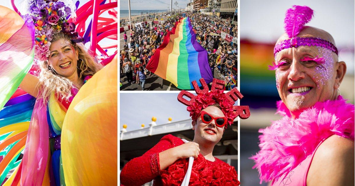 Brighton brings the glam and glitter for Pride 2018