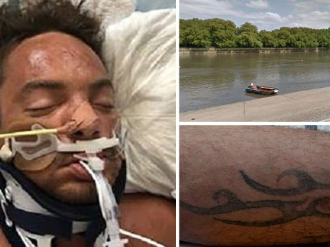 Mystery tattooed man found in River Thames without ID in critical condition