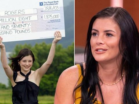 Lottery winner says she's happier than ever despite spending all £1,875,000