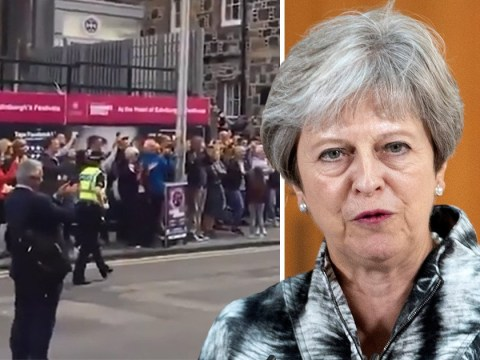 Theresa May heckled at Edinburgh Fringe festival